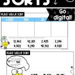 sample digital activities from place value sorts using google slides