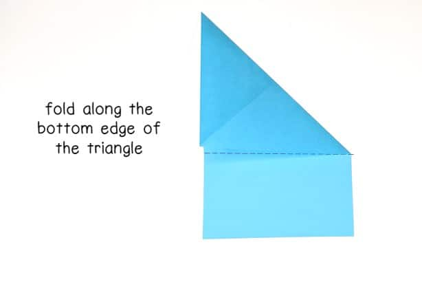 step 6 - fold along the bottom edge of the triangle