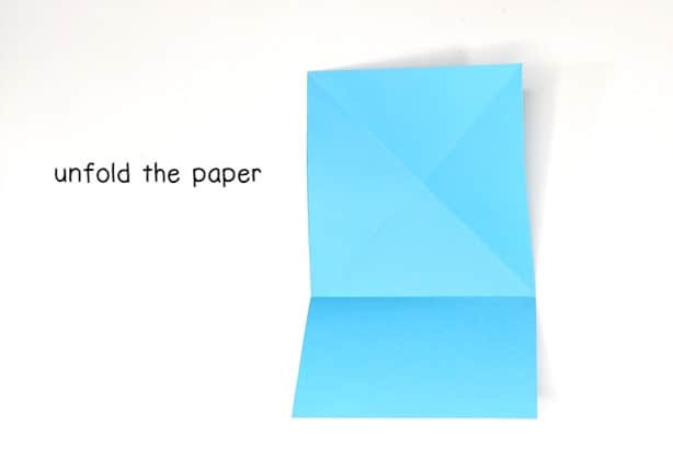 step 7 - unfold the paper