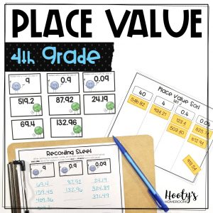 4th grade decimal place value sorting activities