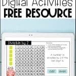 divisibility rules digital activities using google slides