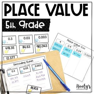 decimals to the thousandths place activities
