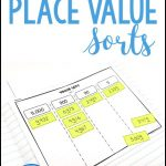 value of the digit place value sorting activity for 3rd grade