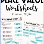 print and dgital place value worksheets