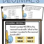 print and digital rounding decimals task cards