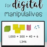 4 easy options for digitl math manipulatives