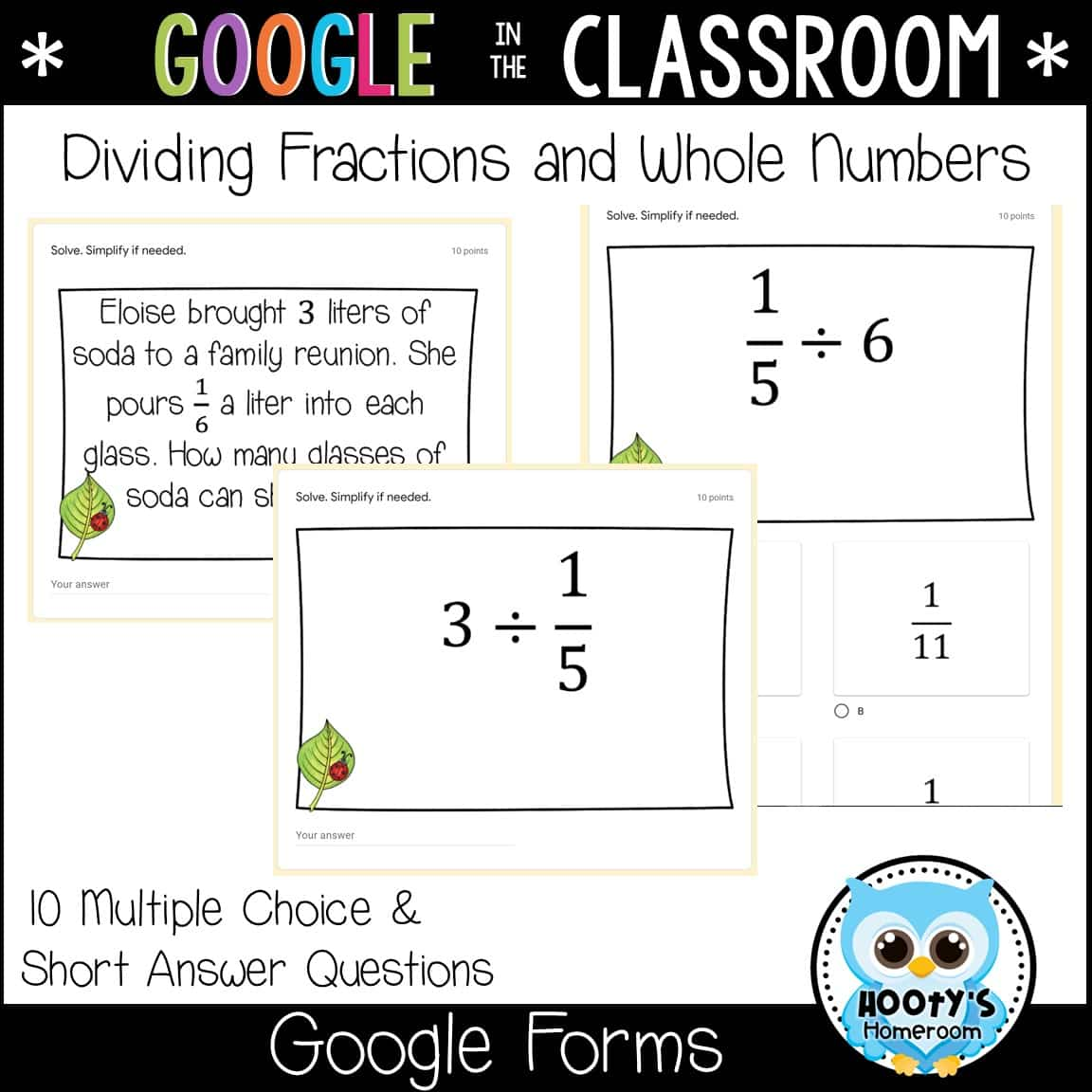 Multiplying and Dividing Fractions Using Google Forms Within Dividing Fractions Using Models Worksheet