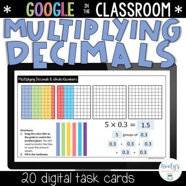 multiplying decimals by whole numbers sample activity