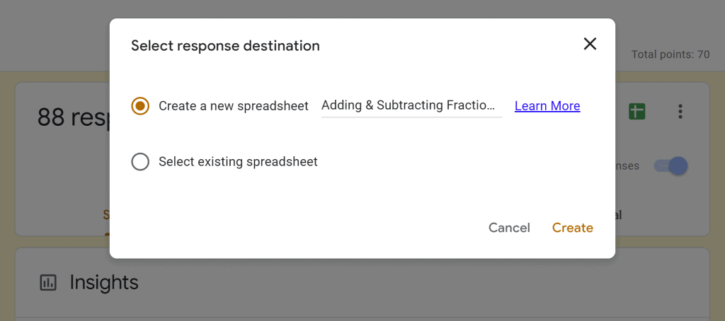 link google sheets to your google form