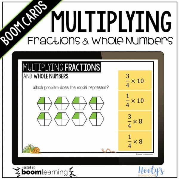 multiplying fractions and whole numbers using models
