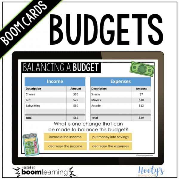 balancing budgets boom cards