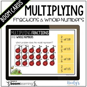 parts of a group multiplying fractions and whole numbers using models