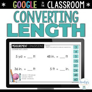 length conversions digital activities
