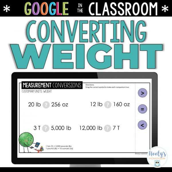 weight measurement conversions digital activities