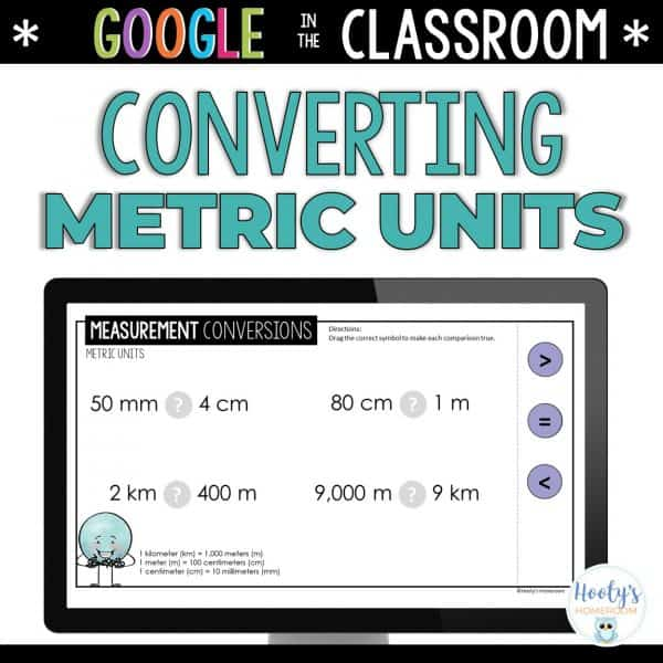 metric unit conversions digital activities