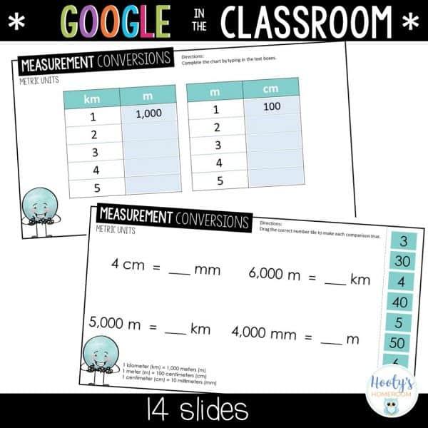 Converting Metric Units Google Slides