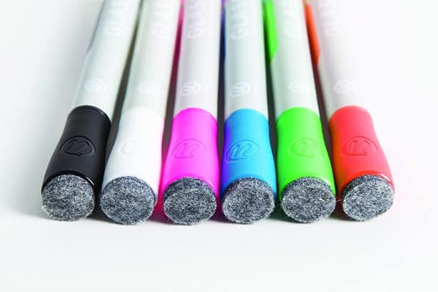 dry-erase markers for black light math activity