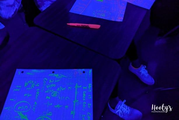 glow math student work sample