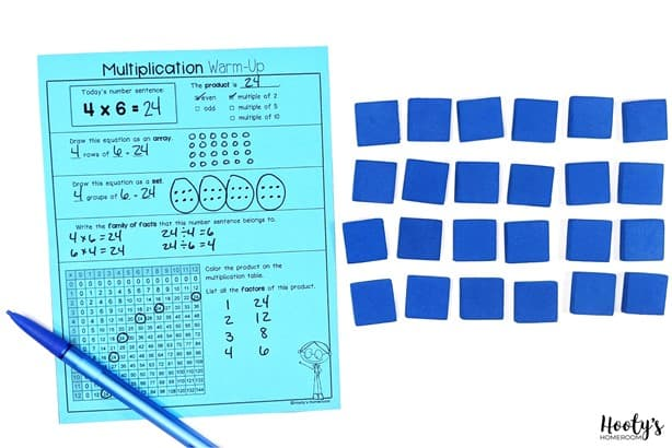 concrete multiplication fluency activities