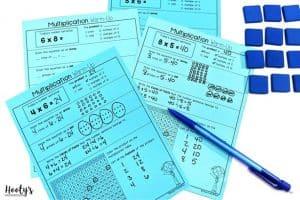 multiplication fluency activities