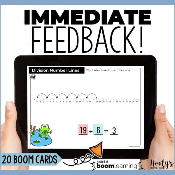 students receive immediate feedback while using boom cards