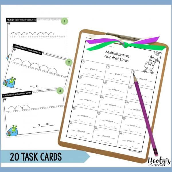 print task cards come with 3 student recording sheets
